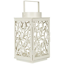 Buy John Lewis Fleur Outdoor Lantern, H24cm, Cream Online at johnlewis.com