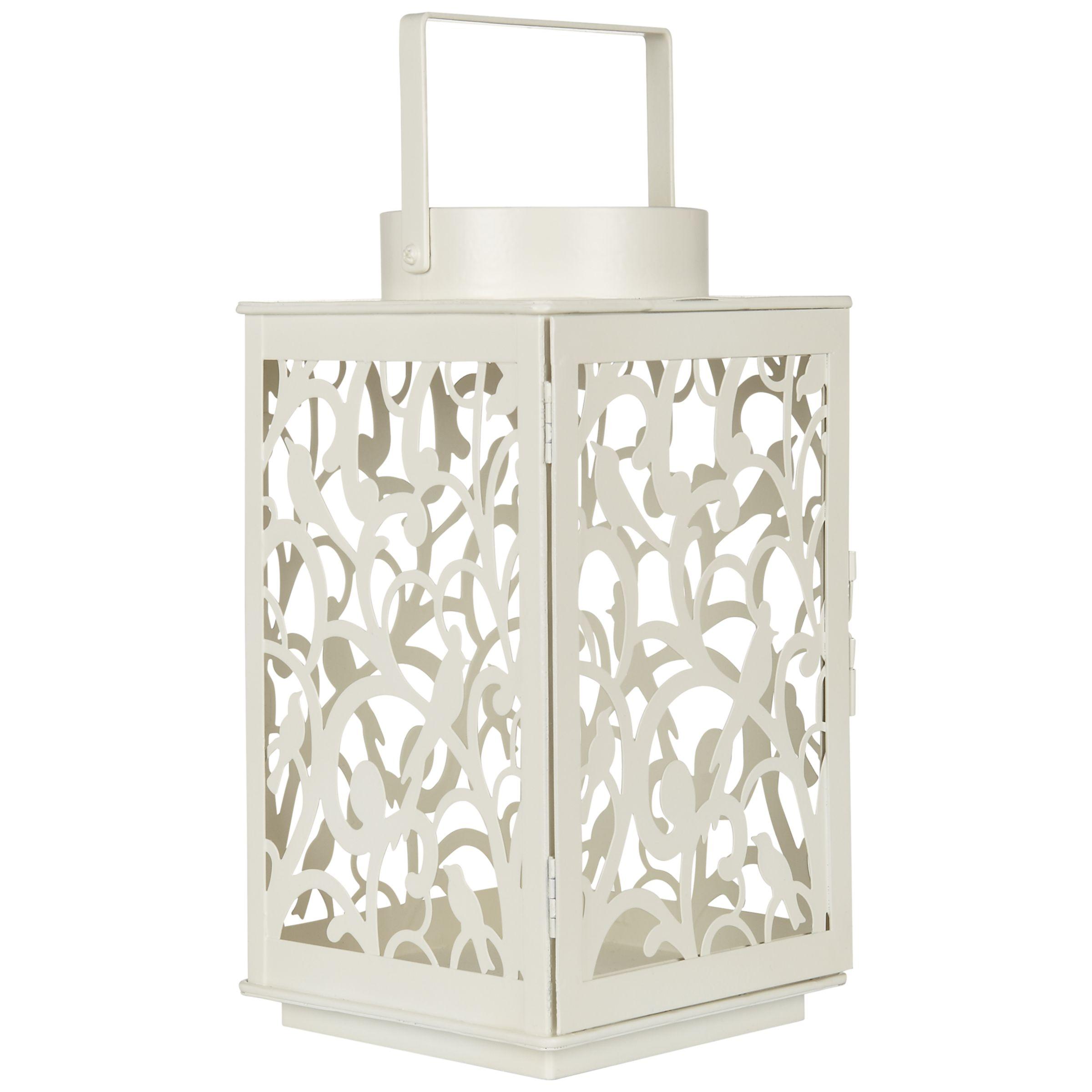 John Lewis Fleur Outdoor Lantern, H24cm, Cream