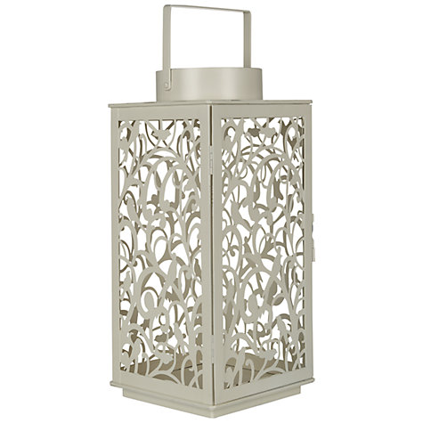 Buy John Lewis Fleur Outdoor Lantern, H37cm, Cream Online at johnlewis.com