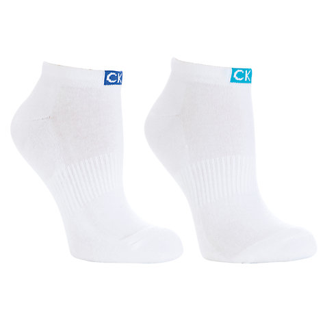 Buy Calvin Klein Signature Tab Ped Socks, Pack of 2 Online at johnlewis.com