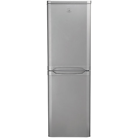 Buy Indesit CAA55NX Fridge Freezer, A+Rated, 55cm Wide, Stainless Steel Online at johnlewis.com