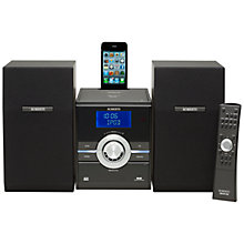 Buy ROBERTS SOUND 70 DAB/FM/CD Micro System/iPod Dock, Black Online at johnlewis.com