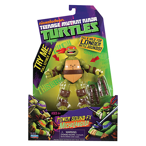 Buy Teenage Mutant Ninja Turtles Electronic Figure, Michaelangelo Online at johnlewis.com