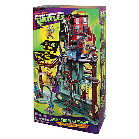 Buy Teenage Mutant Ninja Turtles Playset, Secret Sewer Lair Online at johnlewis.com