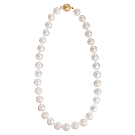 Buy Cobra & Bellamy 18ct Gold Vermeil White Pearl Necklace Online at johnlewis.com