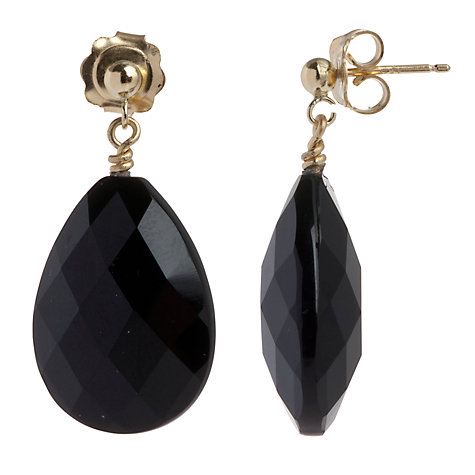 Buy Cobra & Bellamy Pear Shaped Smoky Quartz Drop Earrings Online at johnlewis.com