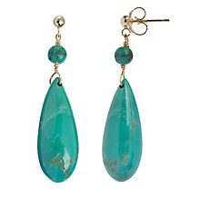 Buy Cobra & Bellamy 18ct Gold Turquoise Drop Stud Earrings Online at johnlewis.com