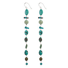 Buy Cobra & Bellamy Sterling Silver Long Turquoise Drop Hook Earrings Online at johnlewis.com