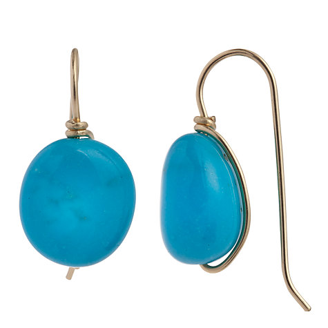 Buy Cobra & Bellamy 18ct Gold New Mexico Turquoise Hook Earrings Online at johnlewis.com