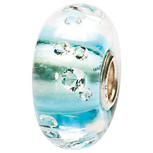 Buy Trollbeads Glass Diamond Blue Bead Online at johnlewis.com