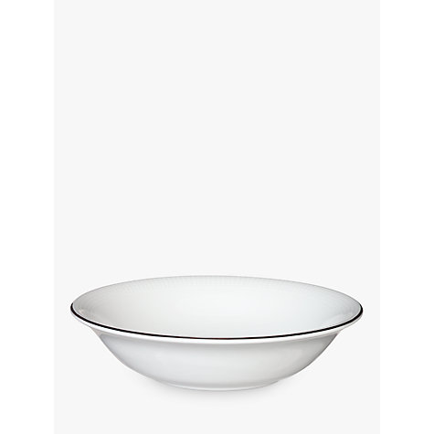 Buy Vera Wang for Wedgwood Blanc sur Blanc Cereal Bowl, Dia.16cm Online at johnlewis.com