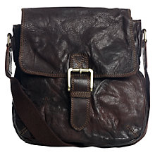 Buy Jigsaw Milkman Satchel Handbag, Brown Online at johnlewis.com
