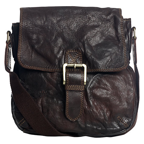 Buy Jigsaw Milkman Leather Satchel, Brown Online at johnlewis.com