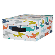 Buy little home at John Lewis Set of 3 Walk the Plank Storage Boxes Online at johnlewis.com