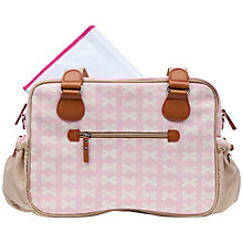 Buy Pink Lining Not So Plain Jane Changing Bag, Dusky Bows Online at johnlewis.com