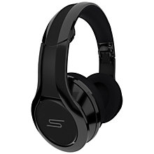 Buy SMS Audio DJ Pauly D STREET by 50 Cent Full Size Headphones, Black Online at johnlewis.com