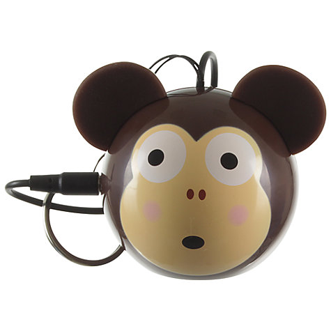 Buy KitSound Mini Buddy Monkey Speaker, Brown Online at johnlewis.com