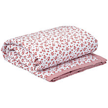 Buy John Lewis La Rochelle Cotbed Quilt, Red Online at johnlewis.com