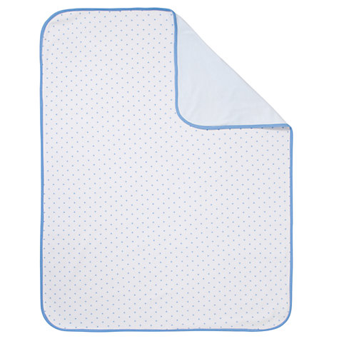 Buy John Lewis Baby Swaddling Blanket, Blue Online at johnlewis.com
