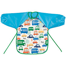Buy John Lewis Transport Peva Long Sleeved Bib Online at johnlewis.com