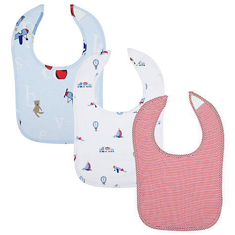 Buy John Lewis Alphabet Bibs, Pack of 3, Multi Online at johnlewis.com