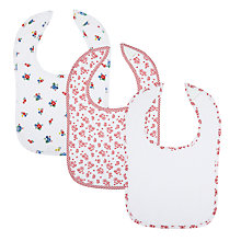 Buy John Lewis La Rochelle Bibs, Pack of 3, Multi Online at johnlewis.com