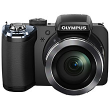 "Buy Olympus SP-820UZ Bridge Camera, HD 1080p, 14MP, 40x Optical Zoom, 3"" Screen, Black with 16GB + 8GB Memory Card Online at johnlewis.com"