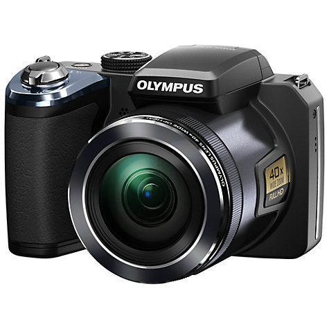 Buy Olympus SP-820UZ Bridge Camera, HD 1080p, 14MP, 40x Optical Zoom, 3 Screen, Black Online at johnlewis.com