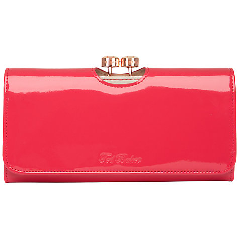 Buy Ted Baker Maggye Bow Bobble Patent Matinee Purse Online at johnlewis.com