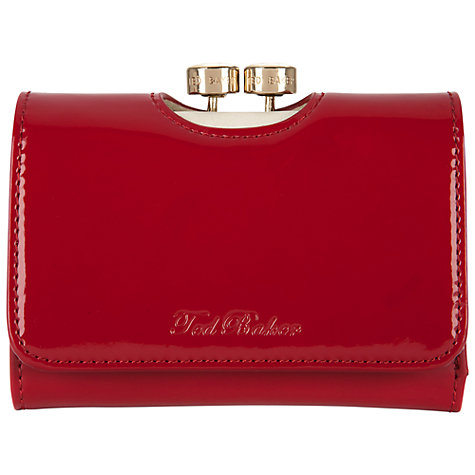 Buy Ted Baker Rebekka Bow Bobble Patent Small Purse Online at johnlewis.com