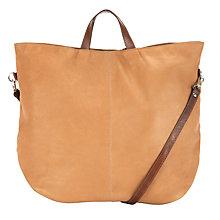 Buy Kin by John Lewis Block Colour Leather Tote Handbag, Tan Online at johnlewis.com