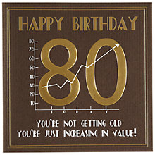 Buy Five Dollar Shake 80th Birthday Card Online at johnlewis.com