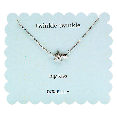 Buy Little Ella Twinkle Star Necklace Online at johnlewis.com