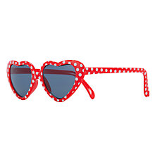 Buy John Lewis Girl Spotted Heart Sunglasses Online at johnlewis.com