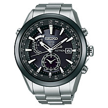 Buy Seiko SAST003G Men's Astron GPS Solar Titanium Bracelet Watch, Silver Online at johnlewis.com