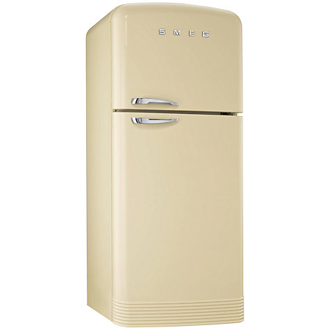Buy Smeg FAB50P Fridge Freezer, A+ Energy Rating, 80cm Wide, Cream Online at johnlewis.com