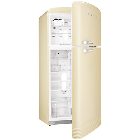 Buy Smeg FAB50P Fridge Freezer  A  Energy Rating  80cm Wide  Cream    Smeg Refrigerator Inside View