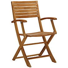 Buy John Lewis Leckford Folding Dining Chair, FSC Teak Online at johnlewis.com
