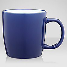 Buy John Lewis Stoneware Mugs, Set of 4, Cobalt Online at johnlewis.com