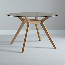 Buy John Lewis Akemi Round 4 Seater Dining Table, Glass Online at johnlewis.com