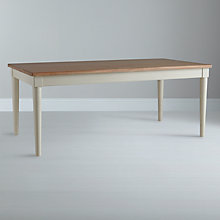 Buy John Lewis Drift Rectangular 8 Seater Dining Table, White Online at johnlewis.com