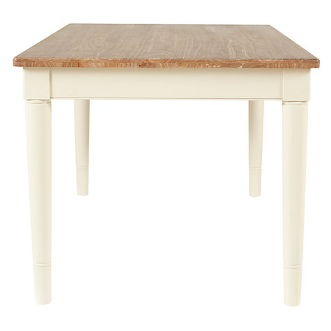 Buy John Lewis Drift Rectangular 6 Seater Dining Table, Cream Online at johnlewis.com