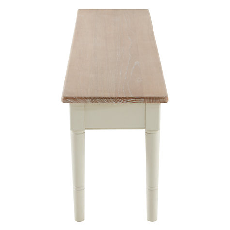 Buy John Lewis Drift 4-Seater Dining Bench, Cream Online at johnlewis.com