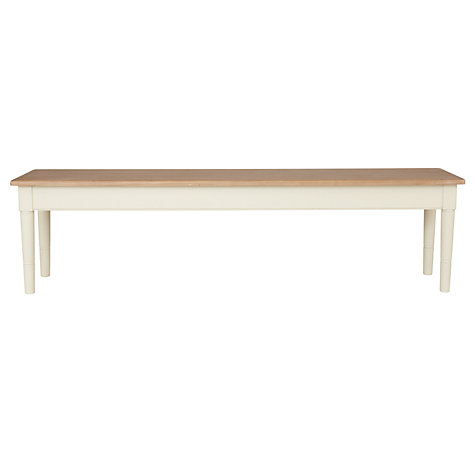 Buy John Lewis Drift 4 Seater Dining Bench, Cream Online at johnlewis.com