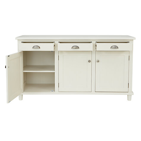 Buy John Lewis Drift 3-Door Sideboard, Cream Online at johnlewis.com