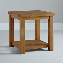Buy John Lewis Pendleton Side Table with Shelf, Oak Online at johnlewis.com