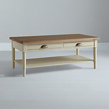 Buy John Lewis Drift Coffee Table, Cream Online at johnlewis.com