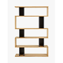 Buy Content by Terence Conran Counterbalance Tall Shelving, Oak/Charcoal Online at johnlewis.com