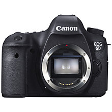 "Buy Canon EOS 6D Digital SLR Camera, HD 1080p, 20.2MP, GPS, 3"" LCD Screen, Body Only with Memory Card Online at johnlewis.com"