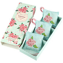 Buy Heathcote & Ivory Vintage Rose Scented Drawer Cushions, Pack of 3 Online at johnlewis.com